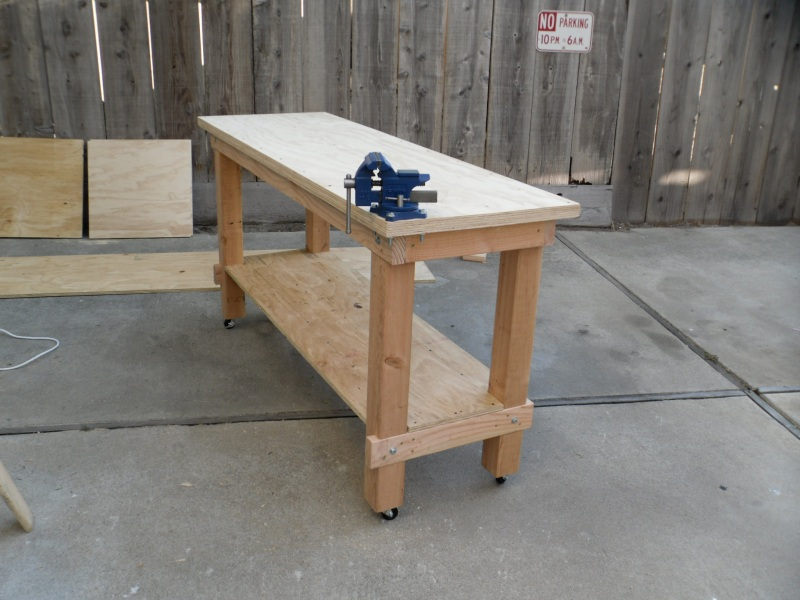 homemade work bench ideas
