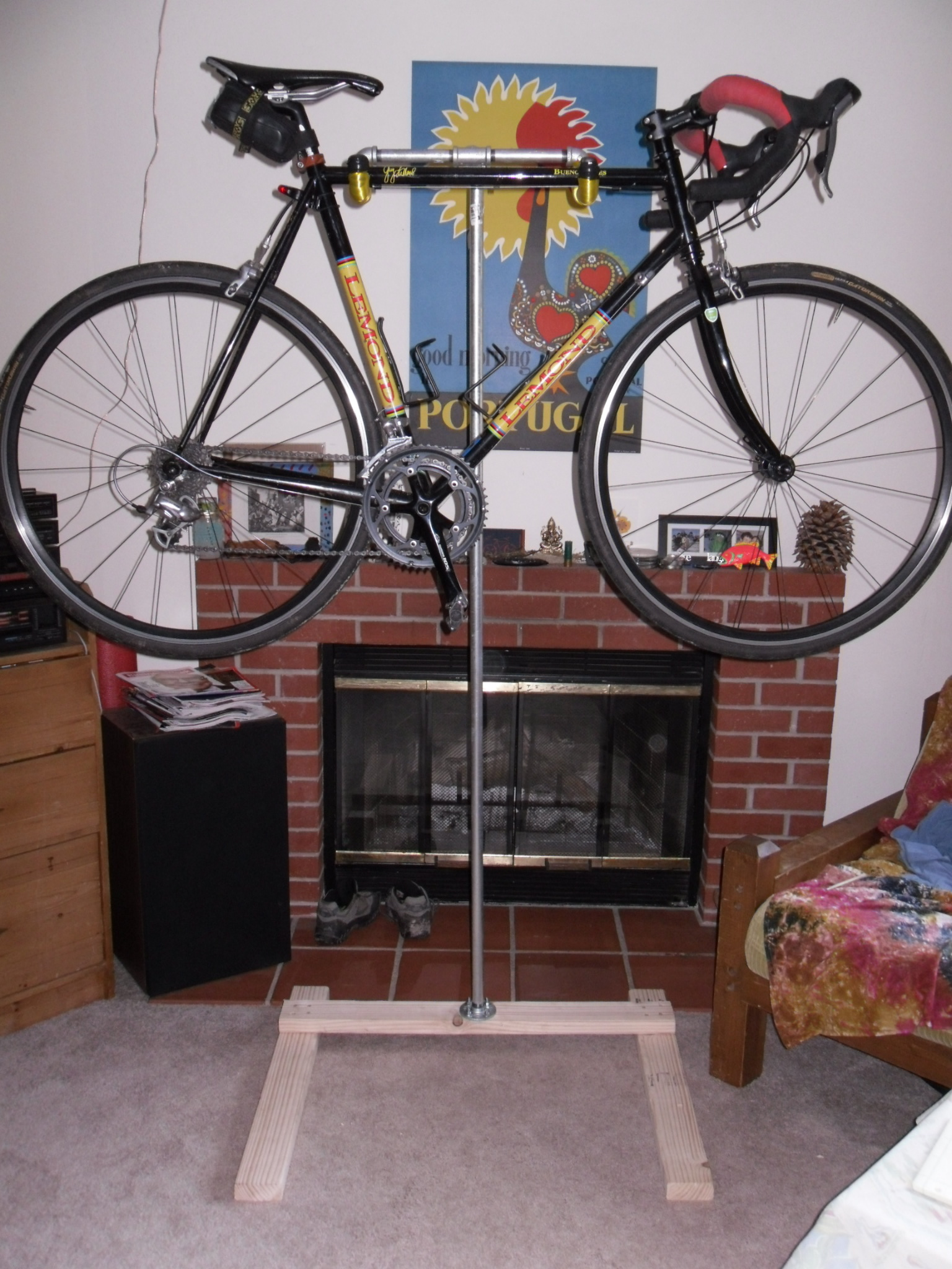 Homemade Bike Stand The Sustainable Cyclist